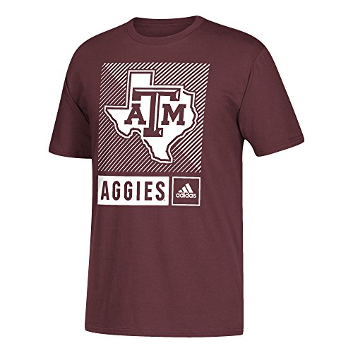 - adidas NCAA Texas A&M Aggies Mens Lined Box Go-To S/Teelined Box Go-To S/Tee, Maroon, XX-Large