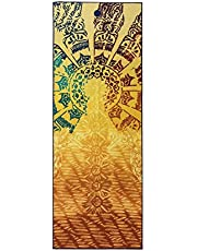 Yogitoes Manduka Yoga Towel for Mat, Non-Slip and Quick Dry for Hot Yoga with Rubber Bottom Grip Dots, 68 Inch Long, Thin and Lightweight