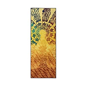 Yogitoes Manduka Yoga Towel for Mat, Non-Slip and Quick Dry for Hot Yoga with Rubber Bottom Grip Dots, 68 Inch Long…