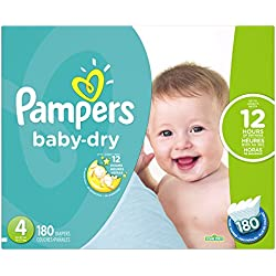 Pampers Baby Dry Diapers,180 Count