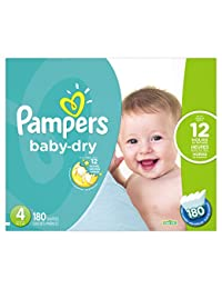 Pampers Baby Dry Diapers Size 4, 180 Count BOBEBE Online Baby Store From New York to Miami and Los Angeles