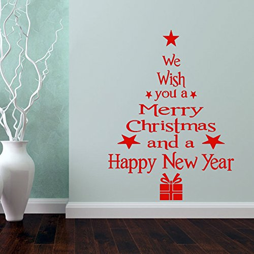 ChezMax DIY Merry Christmas Wall Sticker Holiday Decoration Window Decal Removable 16.92