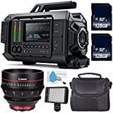 Blackmagic Design URSA 4K v1 Digital Cinema Camera (Canon EF Mount) #CINECAMURSA4K/EF + Professional 160 LED Video Light Studio Series + Canon CN-E 50mm T1.3 L F Cine Lens International Model Bundle