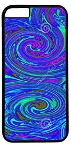 Abstract Design of Vortex DIY Rubber Black iphone 6 plus Case Perfect By Custom Service