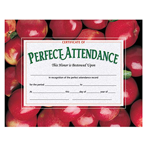 (Hayes H-VA513BN Certificate of Perfect Attendance, 8.5