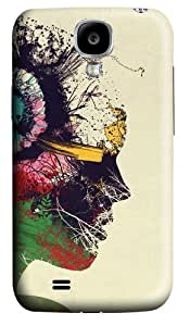 Artist Portrait Polycarbonate Hard Case Cover for Samsung Galaxy S4/Samsung Galaxy I9500 3D