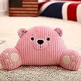 Remeehi Cartoon Lumbar Support Waist Seat Back Cushion Reading Pillow Pillow Pink Bear 3558cm