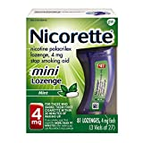 Mini Nicorette Nicotine Lozenge to Stop Smoking, 4mg, Mint Flavor, 81 Count