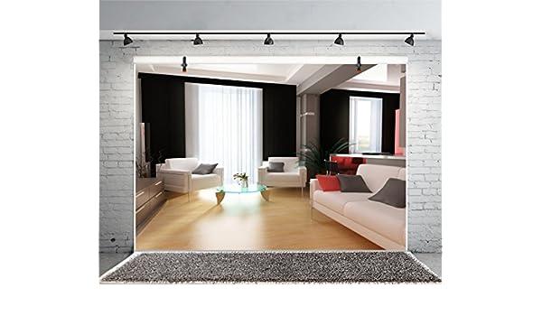 Leyiyi - Cortina de Pared para Estudio de Vinilo, Diseño Moderno de la Oficina o el Interior de la Oficina, para Sala de Estar, Negocios, hoteles o Cafeterías, Color Marrón: Amazon.es: Electrónica
