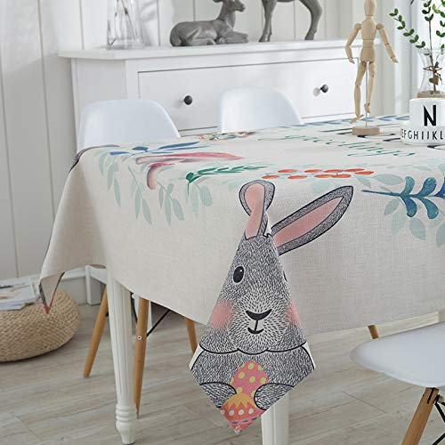 Picnic Home Decoration High-Grade Printed Thick Cotton and Linen Tablecloth 8585Cm,Great for Buffet Table, Parties, Holiday Dinner ()