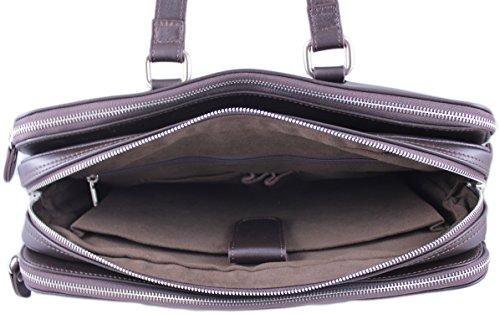 Zavelio Hombres de Negocios Maletín Messenger bolso bandolera de piel auténtica David marrón canela talla única marrón