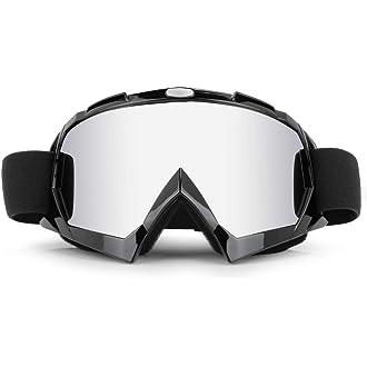 ADHG Gafas para Montar en Moto Protecci/ón UV Resistente al Polvo Gafas de Sol para Moto a Prueba de Viento Visi/ón Nocturna Conducci/ón Gafas de Sol mejoradas para Deportes al Aire Libre Activos