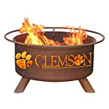 Patina 31 in. College Fire Pit with Grill and FREE Cover For Sale