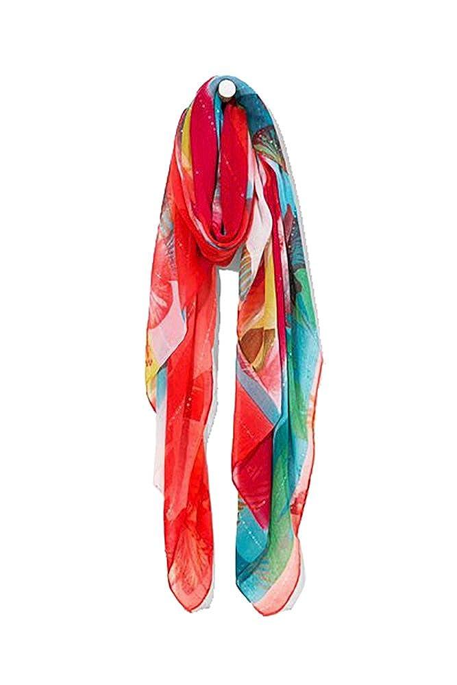 Desigual Taille Unique foulards 72w9wa7 polynesia rouge  Amazon.fr   Vêtements et accessoires 29e479e4041