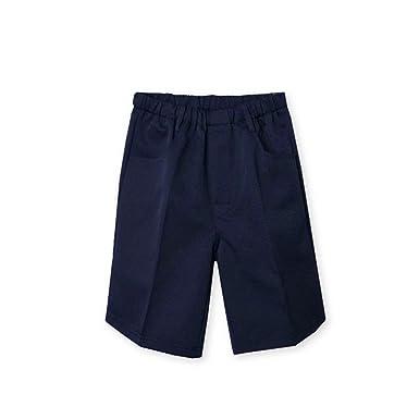 705c87d499988 子供服 男の子 スクール 5分丈 半ズボン ハーフ パンツ ボトム フォーマル 紺 ウエスト総