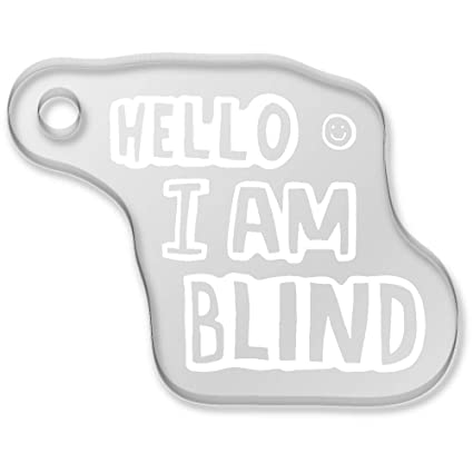 Azeeda Hello Im Blind Llavero (AK00038105): Amazon.es ...
