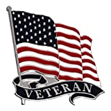 Armed Forces Depot Military Veteran with U.S. Flag Pin