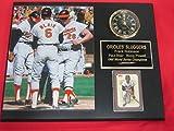 Orioles Frank Robinson Paul Blair Boog Powell Collectors Clock Plaque w/8x10 Photo and Card