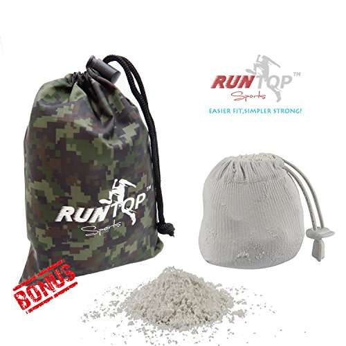 RUNTOP 2.4OZ Refillable Magnesium Carbonate GYM Chalk Ball for Weight lifting Crossfit WODS Gymnastics Rock Climbing PowerLifting Workout No Slip by RUNTOP