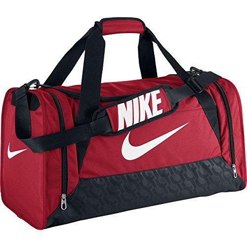 New Nike Brasilia 6 Medium Duffel Bag Gym Red/Black/White (Brasilia Nike Bag compare prices)
