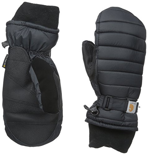 Carhartt Women's Quilts Insulated Breathable Mitt with Waterproof Wicking Insert, Black, Small