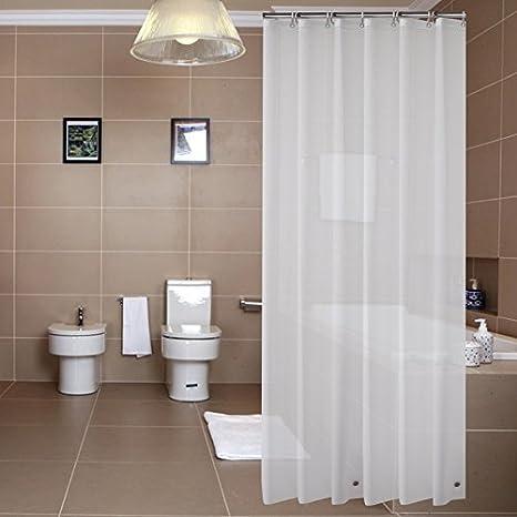 Sfoothome PEVA 8 Gauge Small Size Shower Curtain LinerWaterproofOdorlessMildew Resistance