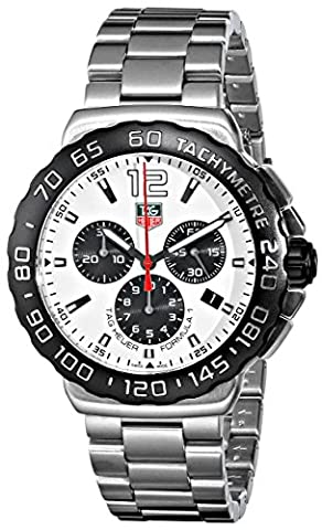 TAG Heuer Men's CAU1111.BA0858 Formula 1 Stainless Steel Watch - Chronograph White Dial
