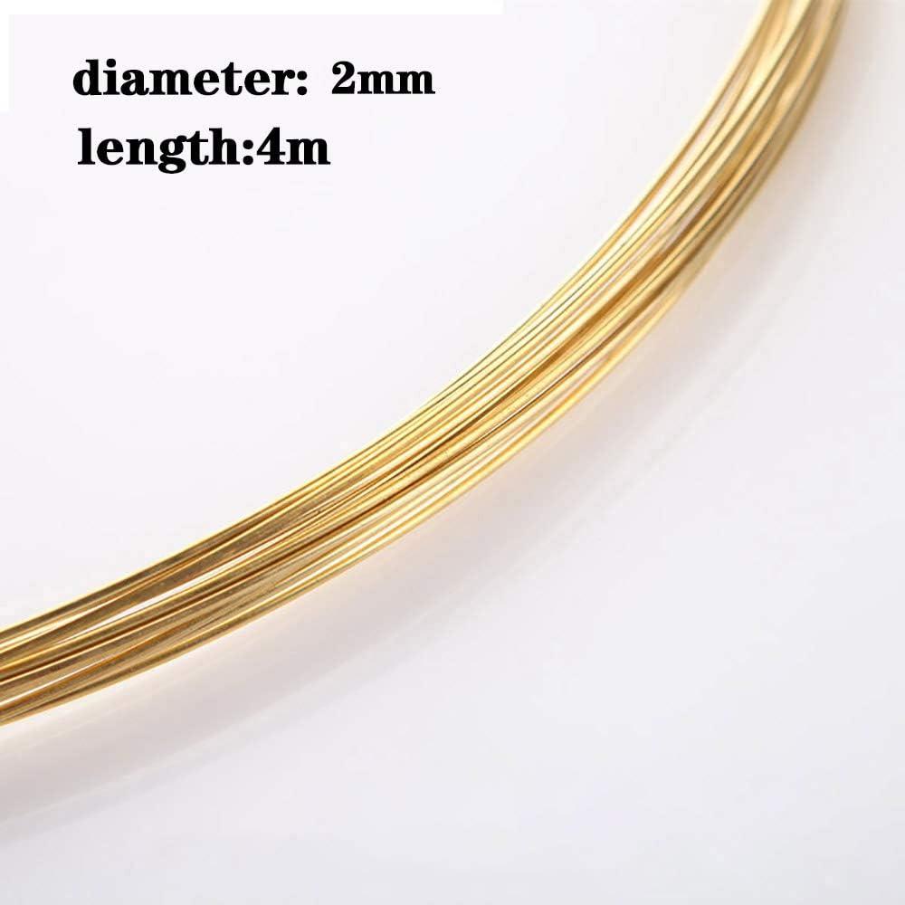 LEISHENT H62 Brass Wire 2.5Mm Diameter,Length 4M