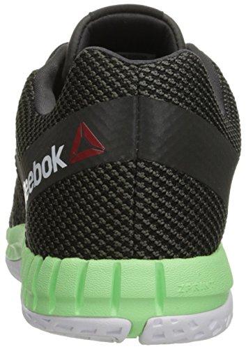 Reebok Women's Zprint Running Shoe, White, B(M) US Gravel/Black/Seafoam Green/Black Reflective/White/Coal