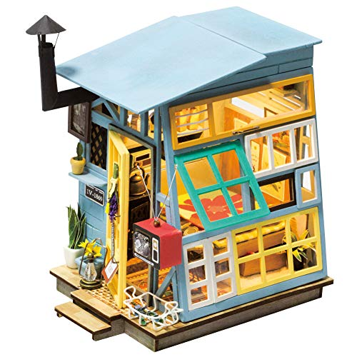 Rolife Miniature Dollhouse Kit Wooden Hut with Furniture ()