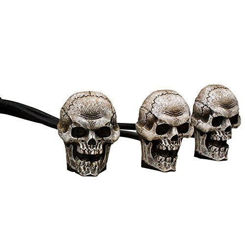 8.7 in. Skull Trio Fog Machine Accessories with