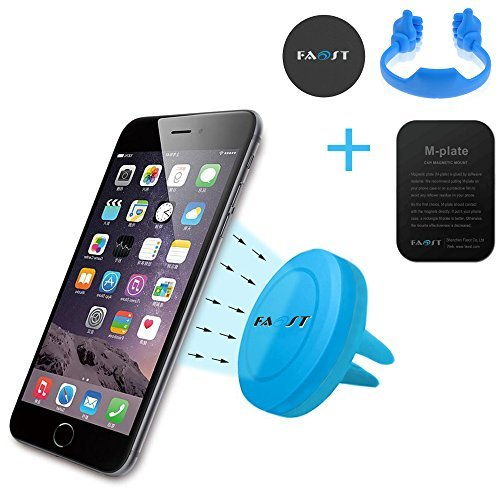 Car Mount Pack/Holder Pack,3 in 1 Magnet Universal Vent phone Holder Mount w/ Magnetic 1 Step Mounting Compatible with all Phones,thumb up Stand for Cell Phones,iPad,tablet,Kindle holder (Blue)