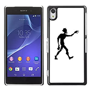 Hot Style Cell Phone PC Hard Case Cover // V0000613 Zombie Vector Character Silhouette // Sony Xperia Z2 L50W