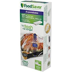 "FoodSaver 11"" x 16' Expandable Heat-Seal Rolls, 2-Pack"