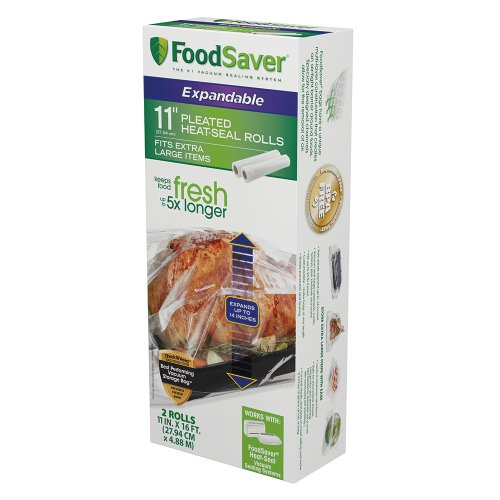 FoodSaver 11'' x 16' Expandable Heat-Seal Rolls, 2-Pack by FoodSaver