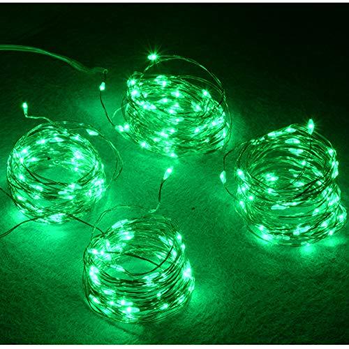 Abkshine 4-Pack 50 Led Green St Patrick's Day