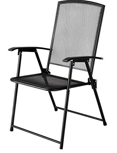 JS Wrought Iron Mesh Metal Chair