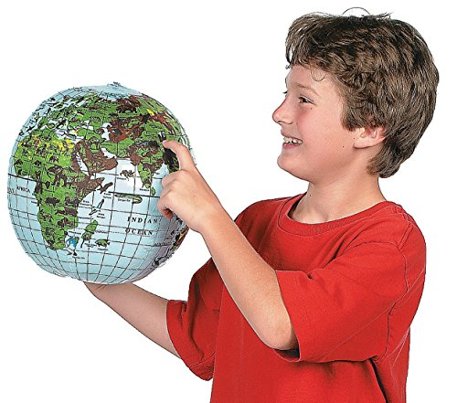 Inflatable Animal World Globe Beach Ball