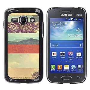 Be Good Phone Accessory // Dura Cáscara cubierta Protectora Caso Carcasa Funda de Protección para Samsung Galaxy Ace 3 GT-S7270 GT-S7275 GT-S7272 // Desert Lines Pattern Sky Red Plan