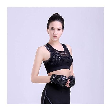 SHUCHANGLE Sujetador Deportivo para Mujer Running Gym Acolchado Transpirable Push Up Bras Sujetador Hueco Fitness Top