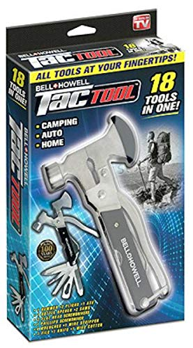 As Seen On Tv Screwdriver - Bell + Howell TAC TOOL stainless steel 18-in-1 multitool As Seen On TV, black, 6