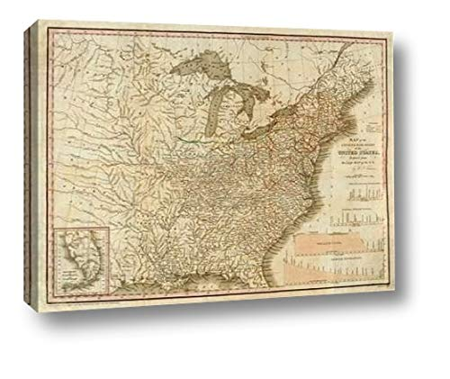 (A Connected View of The Whole Internal Navigation of The United States, 1830 by Henry Tanner - 21