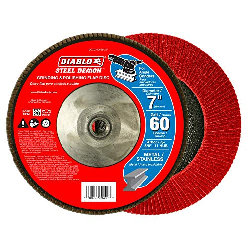 Steel Demon 7 in. 60-Grit (Coarse) Grinding and Polishing Flap Disc (Diablo Steel Demon Grinding And Polishing Flap Disc)