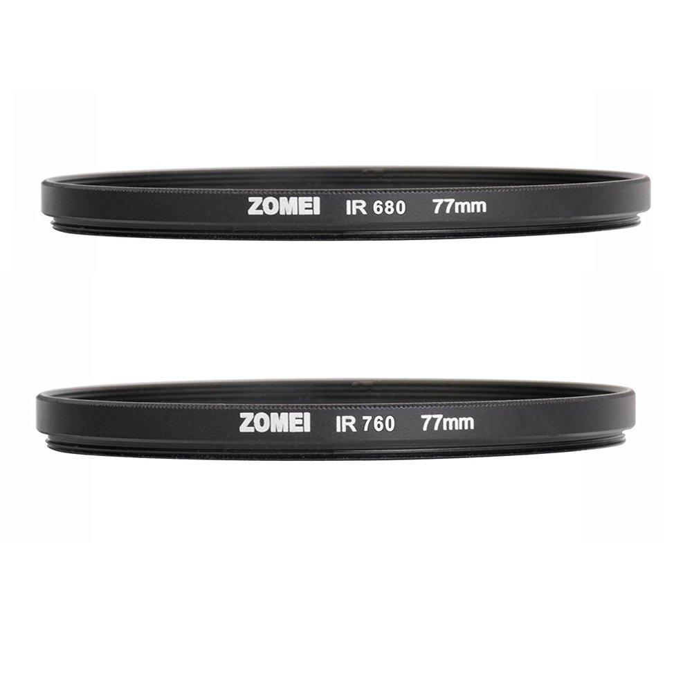 ZOMEi 77MM Ultra Slim Optics Glass IR Infrared X-Ray Filter (680+760)