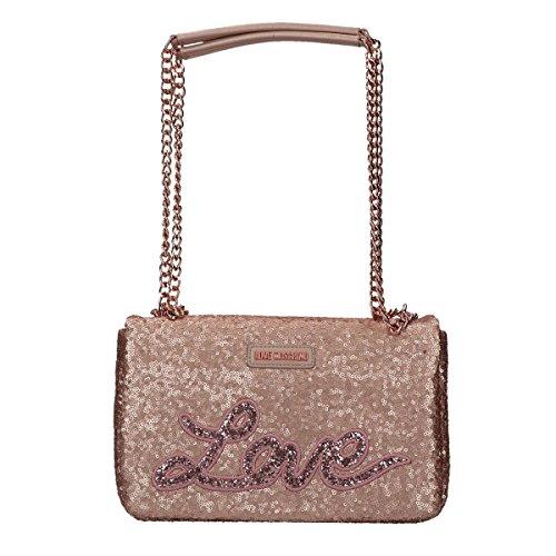 Love Moschino Sequins shoulder bag pink