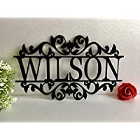 ed546d7d0b6 Personalized Any Name Laser Cut Acrylic Sign Outdoor Wall Hanging Family  Last Name Signs Monogram Garden