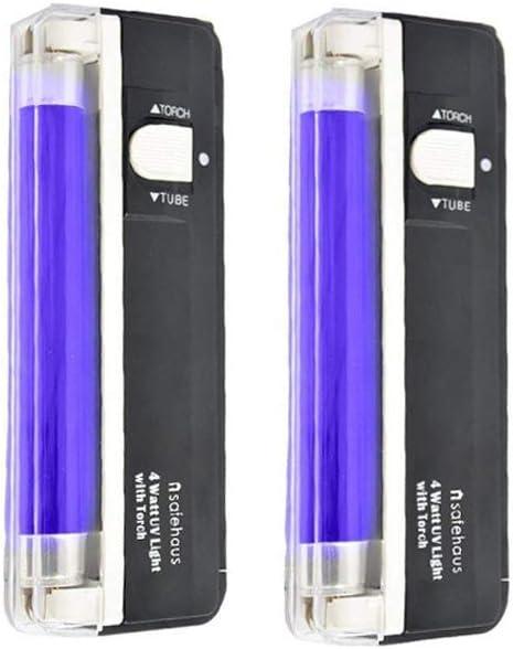 7 Penn double DEL UV Lampe de poche Blacklight-Lumière UV Lampe de poche avec Blacklight