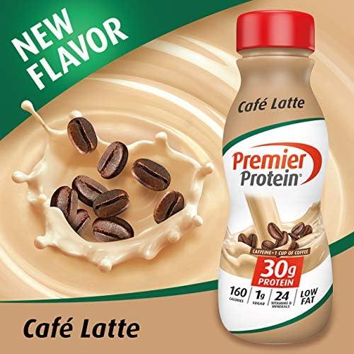 Premier Protein 30g Protein Shake, Cafe Latte, 11.5 Fl Oz, Pack of 12, Café Latte 2
