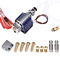 Wangdd22 3D Printer J-head Hotend with Fan for 1.75mm 12v V6 Direct Filament Wade Extruder 0.4mm Nozzle+Volcano kit by Wangdd22