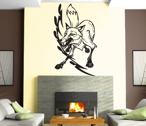 Used, Fox Head Predator Aggressive Tribal Mural Wall Art for sale  Delivered anywhere in USA